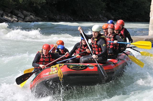 rafting na divoké vodě